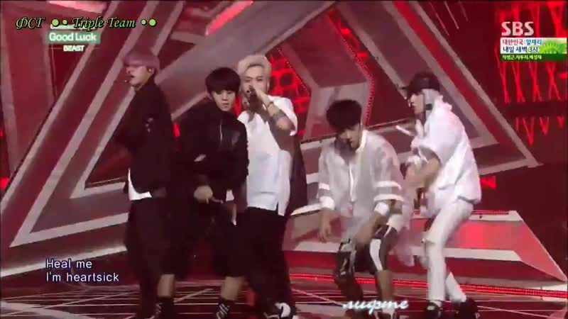 22 06 14 BEAST Good Luck Inkigayo Comeback Stage rus sub рус саб