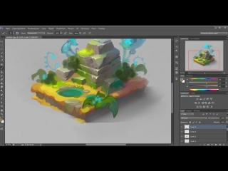 [Anna Lepeshkina] Isometric stone speedpaint (SketchUp and Photoshop)