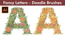 How to Design the Letter A with Doodle Brushes in Adobe Illustrator