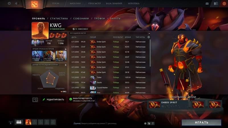 KWG(Ember Spirit) Not luck just skill !