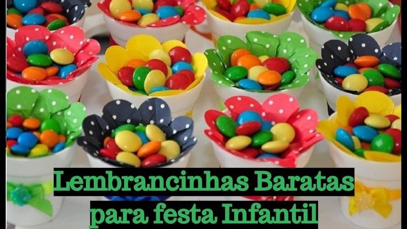 INSPIRAÇÕES DE LEMBRANCINHAS BARATAS PARA FESTA DE CRIANÇAS