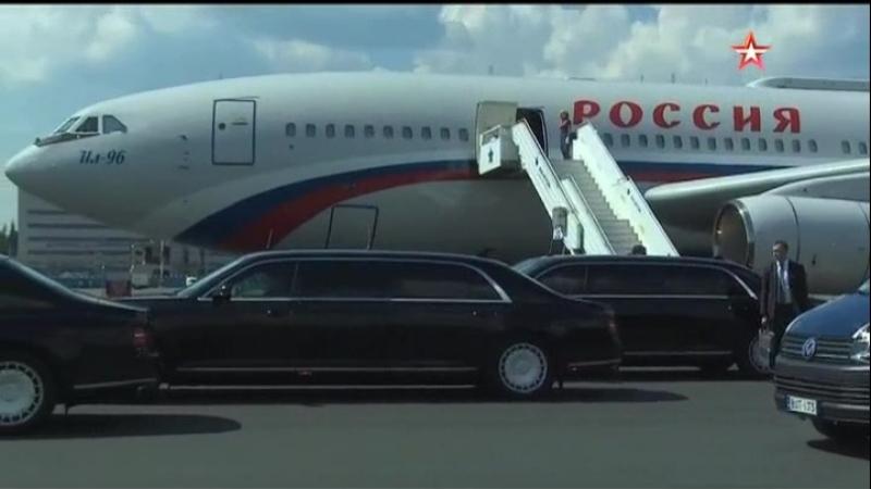 Путин впервые воспользовался лимузином КОРТЕЖ за рубежом.