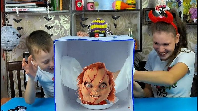 ЧЕЛЛЕНДЖ на ХЕЛЛОУИН Что в КОРОБКЕ Как у Вики ШОУ Halloween Challenge 2018