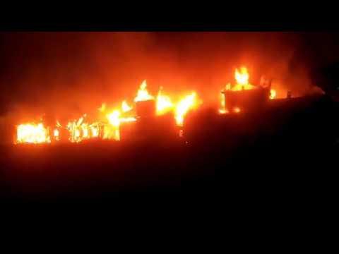 В Осташкове дотла сгорели шесть домов