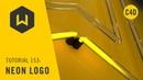 Make a neon logo in C4D - Tutorial 153 Neon Logo