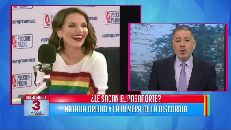 Natalia Oreiro defendió a la comunidad LGBT y le abrían sacado el pasaporte en Rusia