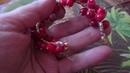 Браслет и серьги с красными кораллами