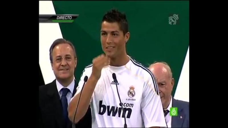 Cristiano Ronaldo 1, 2, 3, ¡Hala Madrid!