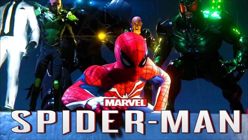ВСЕ ЗЛОДЕИ 🕷️ SPIDER MAN PS4 (2018) 🕷️ Человек Паук