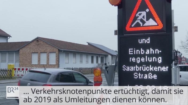 A73 bei Königshof / Stau