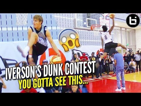 Mac McClung EASTBAY in IVERSON Jersey in Front of the LEGEND but Kevin Porter STEALS THE SHOW