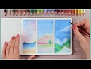 How to Paint with Watercolor Pencils - Painting Ideas for Beginners | Art Journal Thursday Ep. 40