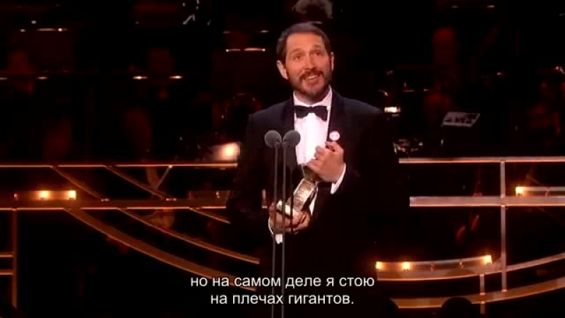 [rus sub] Bertie Carvel's acceptance speech at the Olivier Awards
