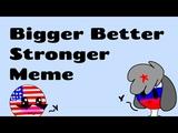 Bigger Better Stronger meme russia x america (gift) (cauntry humans) (lazy) flipaclip 27fps D