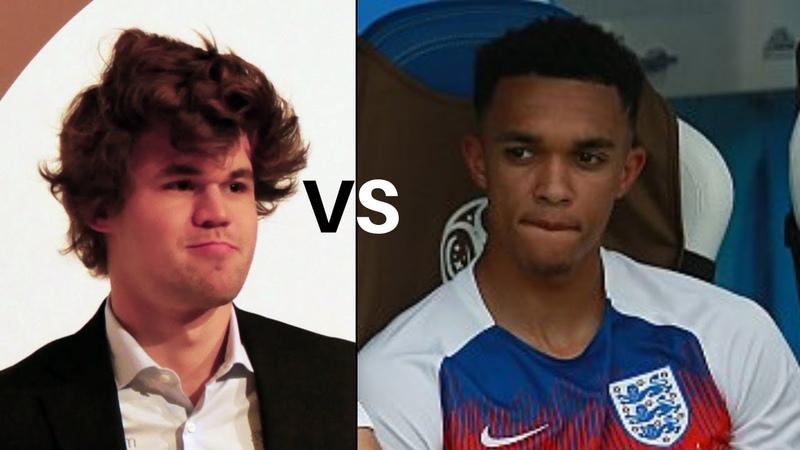 Chess Celebrity Match! : Magnus Carlsen vs Liverpool Football Club's John Alexander-Arnold