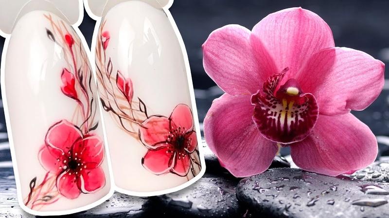 💐 Нежный Венок Весенний Дизайн Ногтей на Цветочную Тему Рисунок Гель лаком для Утонченного Маникюра
