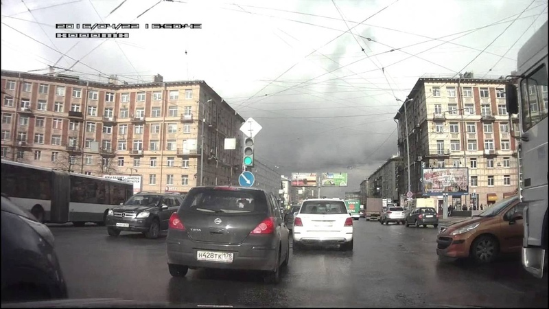 ДТП - СПб - Заневский - Новочеркасский / Car crash Saint-Petersburg