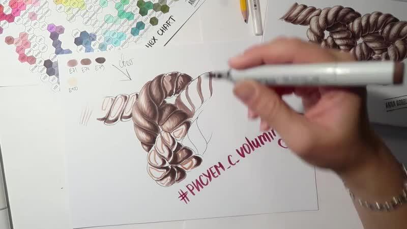 Мастер-класс по рисованию каната часть 3 __ Раскрашивание __ Маркеры, белая ручк