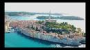 KROATIEN - CROATIA - ISTRIA - ROVINJ - PULA - PREMANTURA BEACH - DRONE VIDEO - 4K