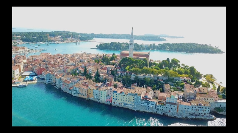 KROATIEN CROATIA ISTRIA ROVINJ PULA PREMANTURA BEACH DRONE VIDEO 4K