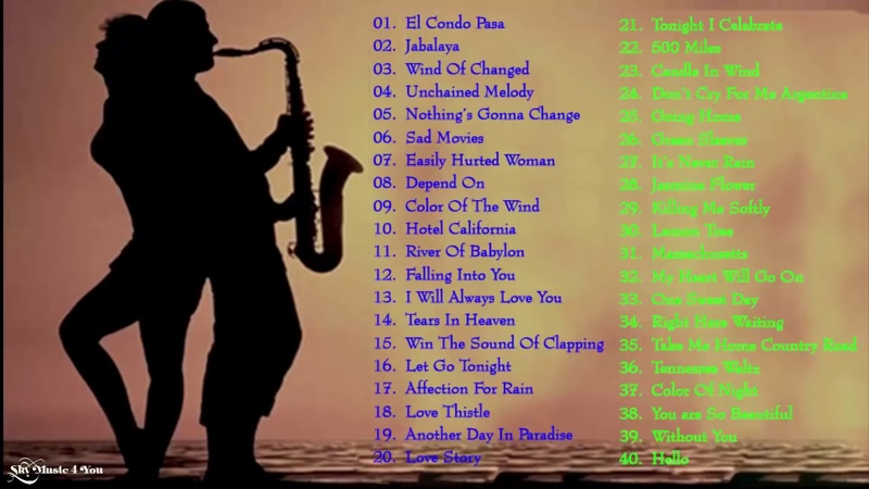 Top 50 Beautiful Saxophone love Songs Instrumental - Relaxing Romantic Saxophone Instrumental