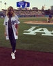 """Olivia holt on Instagram: """"I had such a great time last night at the @dodgers game! Thank you so much for having me. 💙"""""""