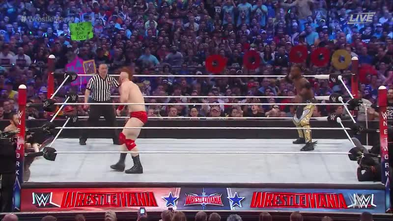 WWE Mania WrestleMania 32 The New Day c vs The League of Nation