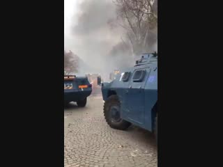 So now we have combat ready armored vehicles with the EU flag which are being used against