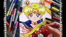 Cómo dibujar a Sailor Moon Super S Perfecta Speed Drawing How To Draw Sailor Moon | CarlosNaranjoTV