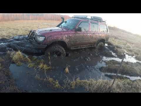 Toyota Land Cruiser, toyota hilux , и Suzuki Escudo в болоте!