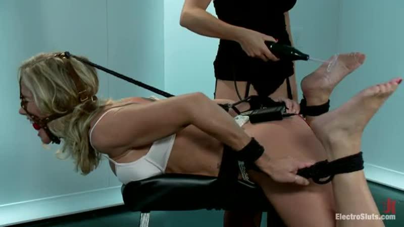 Simone Sonay electro tickled to orgasm