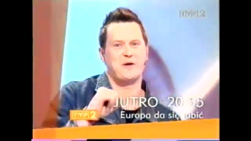 Программа передач с анонсами и конец эфира (TVP2 [Польша], 08.01.2005)