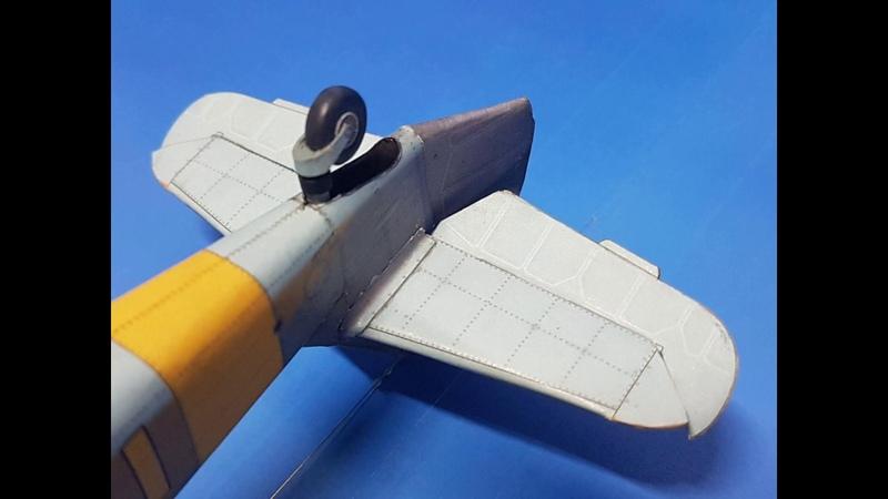 Messerschmitt Bf. 109 F4. Paper model made from Kartonowa Kolekcja №12