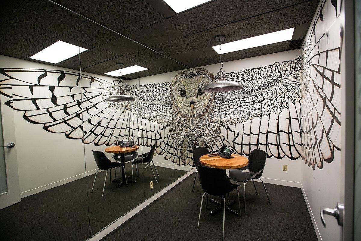 Hootsuite Barn Boardroom Mural on Behance