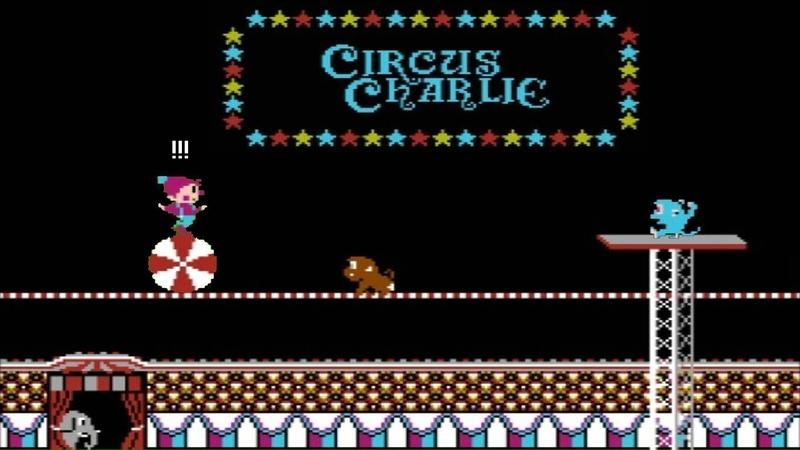 Circus Charlie NES - Прохождение (Циркач Чарли Денди, Dendy - Walkthrough)