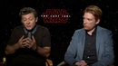 Star Wars: The Last Jedi Interview with Andy Serkis and Domnhall Gleeson