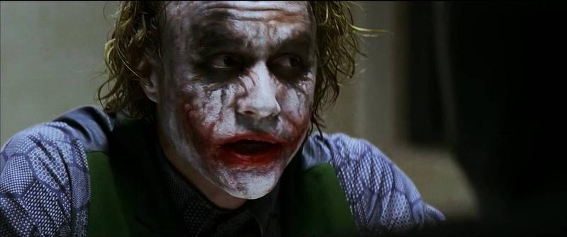 Batman interrogates the Joker