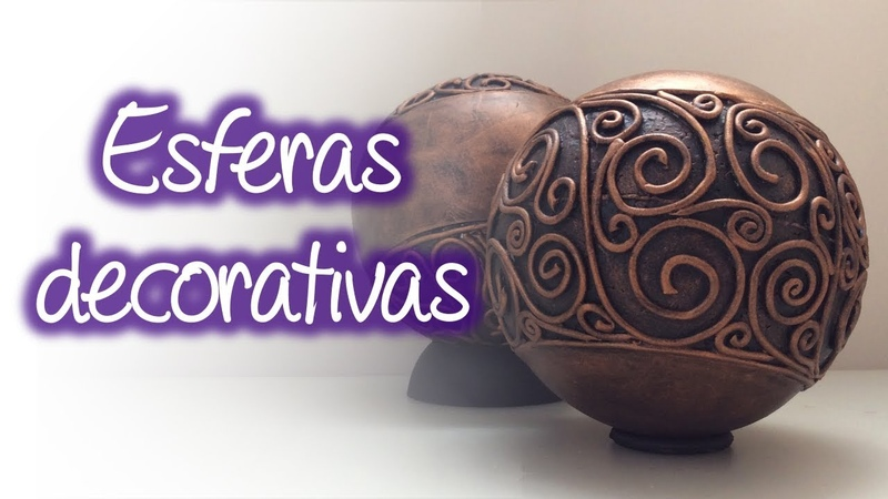 Esferas decorativas en relieve antiguas Antique embossed decorative spheres