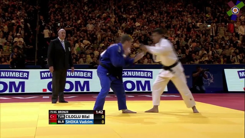 Схватка за 3-е место! Bilal Ciloglu TUR - Vadzim Shoka BLR -73kg European Judo Championships Tel Aviv 2018