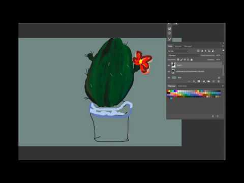 кактус в Фотошопе Ps