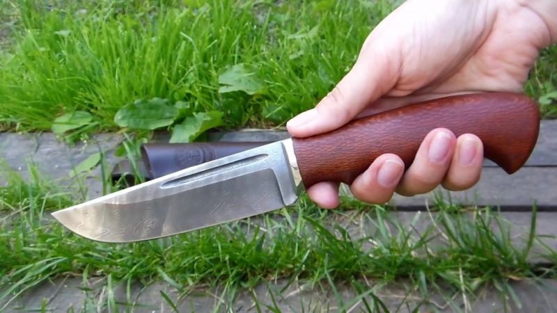 Нож барсук дамасская сталь