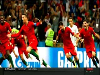Nuno Matos(Rádio Antena 1/Portugal) narra 3º gol de Cristiano Ronaldo, 15/06/2018