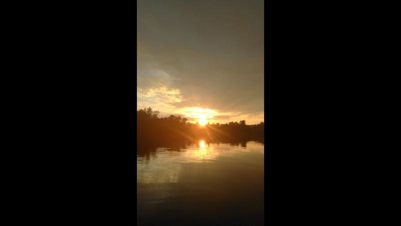 Река Луга на закате