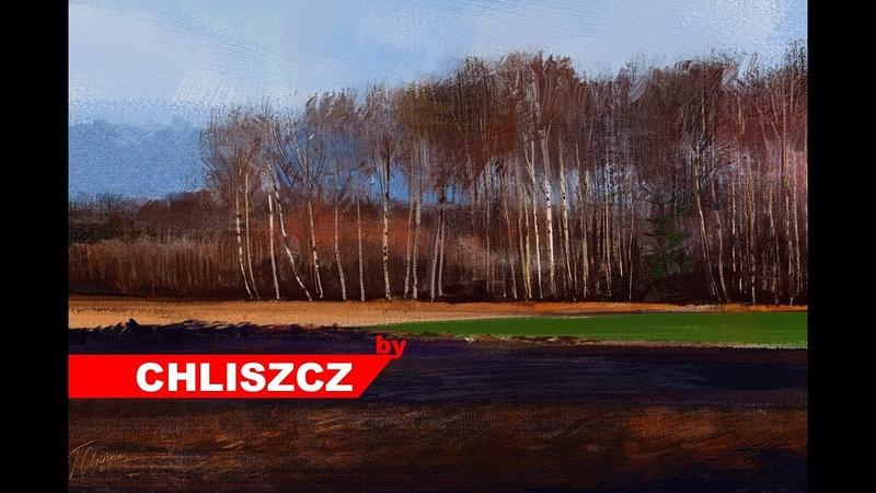 Photoshop CC digital painting process - Rural Landscape