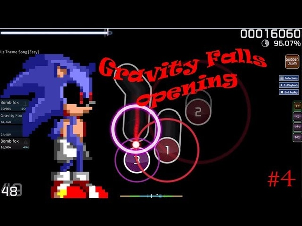 SONIC.EXE VS BILL CIPHER! OSU! 4 - GRAVITY FALLS OPENING (95,3) [SUDDEN DEATH]