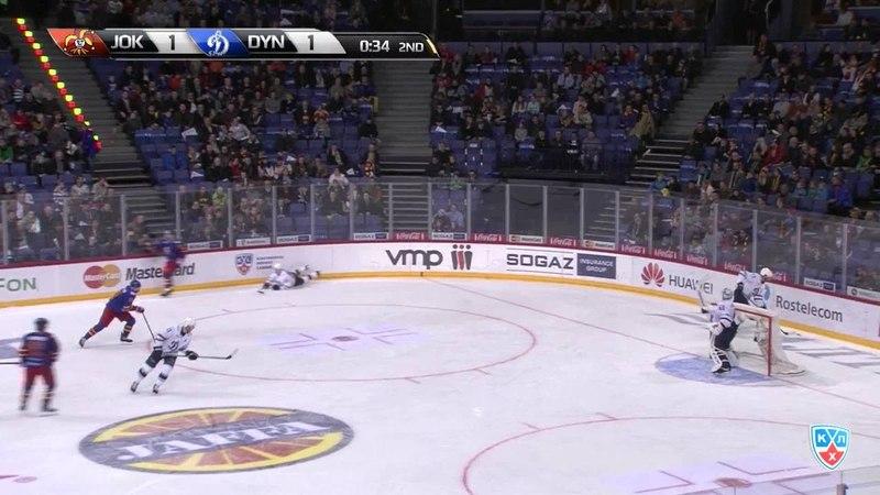 Моменты из матчей КХЛ сезона 14/15 • Гол. 2:1. Кеннеди Тим (Йокерит) забрасывает шайбу в ворота соперника 08.01