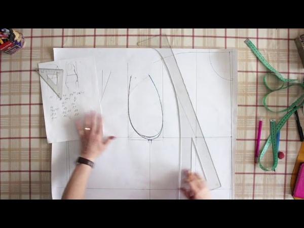 Построение базовой выкройки для фигуры с животом 1 Ирина
