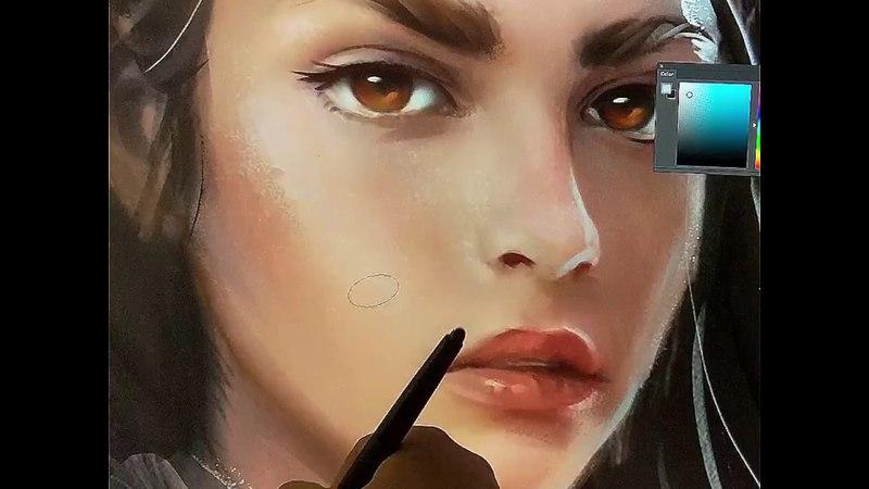 Digital Painting - details by AvvArt