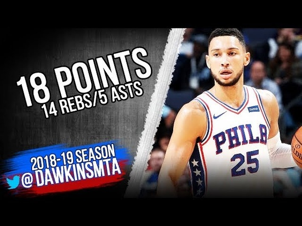 Ben Simmons Full Highlights 2018.11.10 76ers vs Grizzlies - 18 Pts, 14 Rebs, 5 Asts!   FreeDawkins