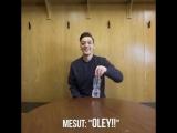 Ozil (water bottle flip challenge)